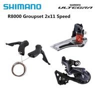 Shimano ULTEGRA R8000 22 Pemicu Kecepatan, Pemindah Gigi Depan + Pemindah Gigi Belakang SS GS Groupset Pembaruan dari 6800