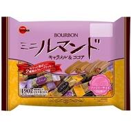 ++爆買日本++BOURBON 北日本 迷你羅曼捲 焦糖&可可味 家庭包 零食 捲心酥 日本餅乾 日本進口