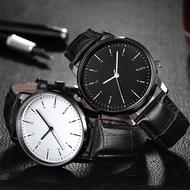 WLISTH นาฬิกาผู้ชายแฟชั่น นาฬิกาแบรนด์เนม นาฬิกา นาฬิกาแฟชั่น สายนาฬิกาหนังแท้ โต๊ะสแตนเลส นาฬิกาควอตซ์ คุณภาพดี (Casio movement ของญี่ปุ่น)
