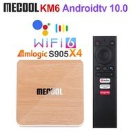 Mecool KM6 Deluxe Wifi 6 Amlogic S905X4 4GB 64GB Androidtv 10.0 Google certified AV1 BT5.0 1000M STB