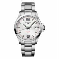 LONGINES 浪琴錶 L37264766 征服者系列 VHP超精準石英萬年曆腕錶/白面43mm