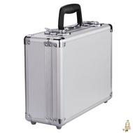 收納箱帶鎖收納盒整理儲物箱小號鋁合金木箱塑料家用文件箱子有蓋xw