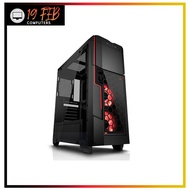 Computer Case Gaming AZZA Mid Tower Temped Glass Gaming Case Crimson 211G – Black