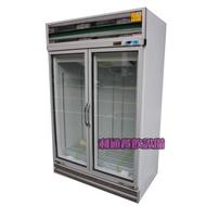 《利通餐飲設備》LED電燈 雙門玻璃冷藏冰箱 2門冰箱
