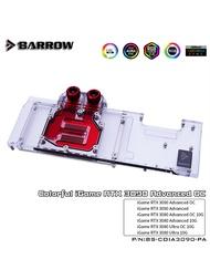 Barrow 3090 3080 GPU Water Blockสำหรับที่มีสีสันRTX 3090/3080ขั้นสูงOC,ฝาครอบARGB GPU Cooler, BS-COIA3090-PA