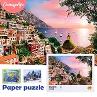 COU 1000pcs Paper Puzzles Jigsaw  Entertainment Landscape Painting Puzzle Adult Model Game