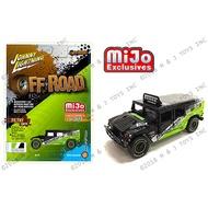 Johnny Lightning 1 / 64 Mijo Hummer 2003 H1 Wagon Bfgoodrich Green Black | Johnny Lightning 1/64 MiJo Hummer 2003 H1 Wagon BFGoodrich Green Black