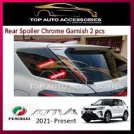 Perodua Ativa Rear Spoiler Chrome Garnish (chose design, double side tape saja)