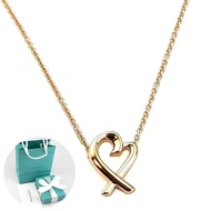 【Tiffany&Co. 蒂芙尼】TIFFANY 18K金 Loving Heart 愛心墜飾項鍊
