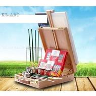 馬利油畫顏料套裝組合 溫莎牛頓油畫工具材料箱(2198元)