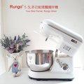 Rungo 5.5L多功能抬頭式揉麵攪拌機打蛋器廚師機-白色,手套膜麵團 110V/ 一年保固