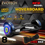 Original Mini Segway / Hoverboard / มีที่หิ้วในตัว / ขนาดล้อ 8 นิ้ว / Hoverboard / Smart Balance Wheel / Electric Scooter สกู๊ตเตอร์ไฟฟ้า รถยืนไฟฟ้า 2 ล้อ มีไฟ LED ลำโพงบลูทูธ ฟังเพลง ( สีดำ ) ! ฟรี กระเป๋าพกพา และ อะแดปเตอร์