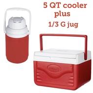 Coleman 5 QT Fliplid Cooler and Coleman 1/3 Gallon Jug