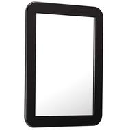 SAVITA 5 1/4 x 6 7/8 Inch Magnetic Locker Mirror,Magnetic Back Sticks to Metal Surface,Ideal for School Locker, Bathroom,Refrigerator,Workshop Or Office Cabinet (Black)
