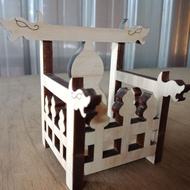 🎉泓展工藝坊🎉-臺灣製香火座 香火座 迷你請椅 請椅 模型請椅 廟會模型 香火