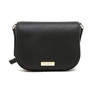 (Kate Spade New York) Kate Spade New York Laurel Way Carsen Leather Cross-body Bag (Black)-WKRU4091