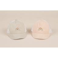 [Queenies Baby/Shop] 韓國 KOREA 二色 笑臉彩虹 洞洞帽 後方有魔鬼粘可調整鬆緊 現貨
