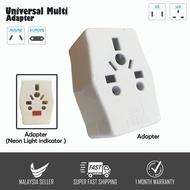 3 Pin Universal Multi Socket Adapter Plug (Universal & 2 Pin Socket)
