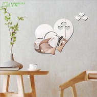 Mirror Wall Sticker New Removable Love Heart Mirror Wall Stickers Decal Art