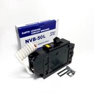 士林電機 漏電斷路器附無熔絲開關NVB-50L 1P20A
