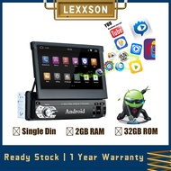 LEXXSON Universal Single Din Car Multimedia Player/Car Stereo Radio/Car Headunit with Android 9.0 System 7 Inch HD Touch Screen GPS Navigation USB