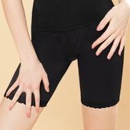 曼黛瑪璉-2015SS 魔幻美型 中腰中管束褲S-XL(黑)