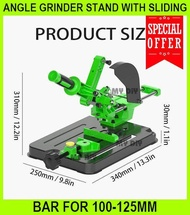 Angle Grinder Stand With Sliding Bar For 100-125mm / Sliding Miter Saw Converter MINI Table Saw