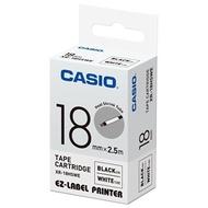 【CASIO】標籤機專用特殊色帶-18mm熱縮套管專用白底黑字(XR-18HSWE)