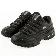 Shoestw【2250BBK】SKECHERS 老爹鞋 ENERGY 黑皮革 增高 女生尺寸