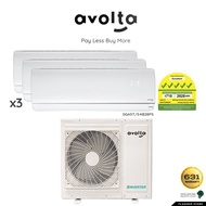 Avolta System 3 Aircon, SGA5TS4B28PS, 9000 x 3 Btu + Installation(within 25ft per fancoil)