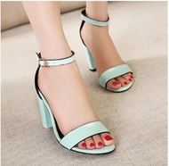 ZARA genuine purchasing 2014 summer new shoes with thick leather high-heeled open-toed sandals shoes