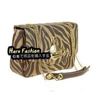 日本代購 全新正品 VIVIENNE WESTWOOD 歐美風 咖啡斑紋 豹紋 珍珠魚質感 鏈條 單肩女用包