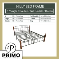 PRIMO's Hilly Wooden Post Bed Frame ( 30x75 / 36 x 75 / 48x75 / 54x75 / 60x75) (S  / Single / Double / Full Double / Queen) - bed frame queen size / bed frame double / single bed frame / folding bed with foam / bed frame double size / Mandaue Foam
