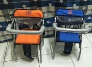 【兒童外出用品】幼兒折合椅/簡易式機車椅   (橘/藍)