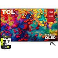 TCL 55R635 55 inch 6-Series 4K QLED Dolby Vision HDR Roku Smart TV Bundle with 1 Year Extended Protection Plan