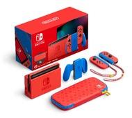 Switch NS 瑪利歐亮麗紅X亮麗藍 限定版 特別版 主機組 電力加強版 台灣公司貨 保固一年 【AS電玩】