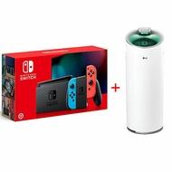 Nintendo Switch 2019新款主機-紅藍手把+螢幕保護貼+LG樂金 空氣清淨機【愛買】
