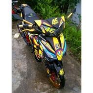 MOTOR STICKER WAVE DASH 110 V2 HONDA FULL BODY