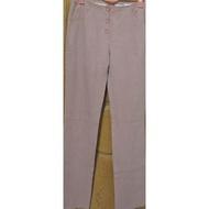 降價下殺【現貨】實拍👖SALLY專櫃棉質粉色腰間及後面口袋有刺繡直筒棉質休閒長褲修身顯瘦棉質舒適感