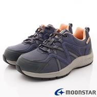 日本月星Moonstar機能女鞋防水防滑系列4E寬楦抗菌透氣健走鞋款1717深藍(女段)