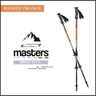 【MASTERS】RANGER 探險者快拆登山杖 2入特惠組 - 橘(義大利登山杖/航太級鋁合金/RANGER)