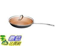 [8美國直購] 陶瓷鍋鈦合金不沾鍋 Gotham Steel 1765 Non-stick Titanium and Ceramic 11吋 Frying Pan Lid by Daniel Green Brown
