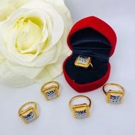 EMAS KOREA CINCIN DEWASA BISCUIT KERING FREE COP 916 - KOREA GOLD /RING / GOLD PLATED 24K