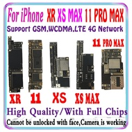 Free shiping 64G 256GB 512GB For iPhone 11 PRO MAX & XS & XR & XS MAX Motherboard with full chips Logic Board Support IO