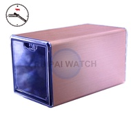 Golden Aluminum Alloy shading Watch Winder Automatic Rotating Watch Winder Acrylic Top Cover Watch C