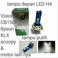 LAMPU DEPAN LED/BOLAM LAMPU DEPAN LED VIXION/CB150 R/BYSON/KLX/SCOOPY & MOTOR LAIN NYA