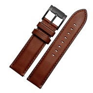 Timex Calfskin Leather Watch Band Straps Watch Width 20mm 22mm Replacement for Men's Fossil (FS5088 FS5380) TIMEX Watches