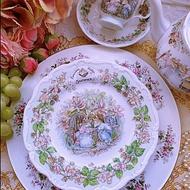 Royal Doulton 皇家道爾頓野薔薇村老鼠搬家夏天 蛋糕盤 點心盤