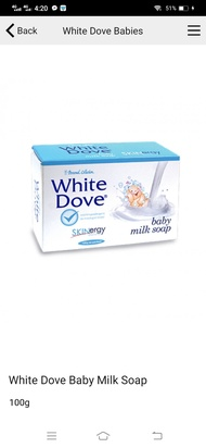 white dove soap