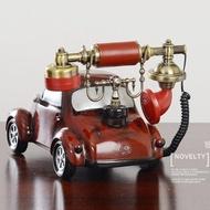 熱銷歐式復古電話機 古董造型電話 座機 創意仿古個性卡通 裝飾家用時尚可愛美式固定 座機 汽車造型電話
